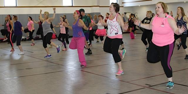 Zumba class in action